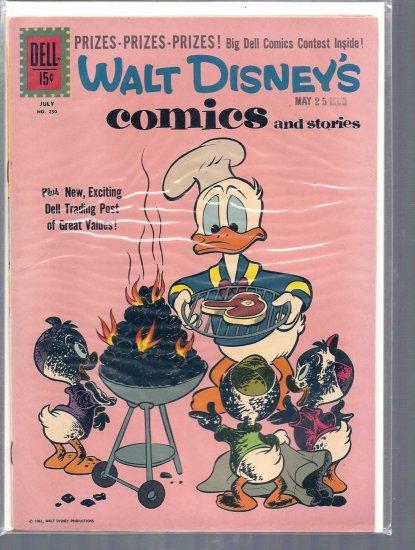 WALT DISNEY COMICS AND STORIES # 250, 5.0 VG/FN