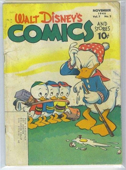 Walt Disney's Comics And Stories # 74, 3.5 VG -