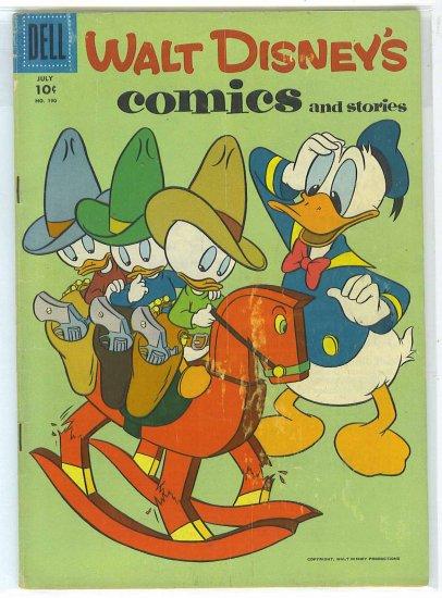 Walt Disney's Comics And Stories # 190, 4.0 VG
