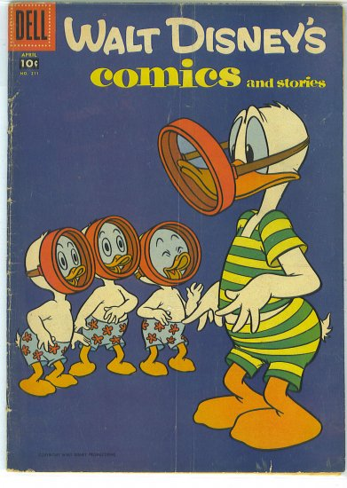 Walt Disney's Comics And Stories # 211, 4.0 VG