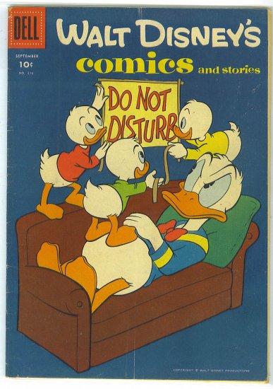 Walt Disney's Comics And Stories # 216, 4.5 VG +