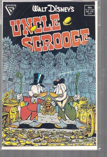 WALT DISNEY'S UNCLE SCROOGE # 219, 8.0 VF