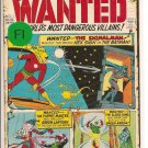 Wanted, The World's Most Dangerous Villains # 1, 6.0 FN