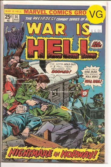 War is Hell # 14, 4.0 VG