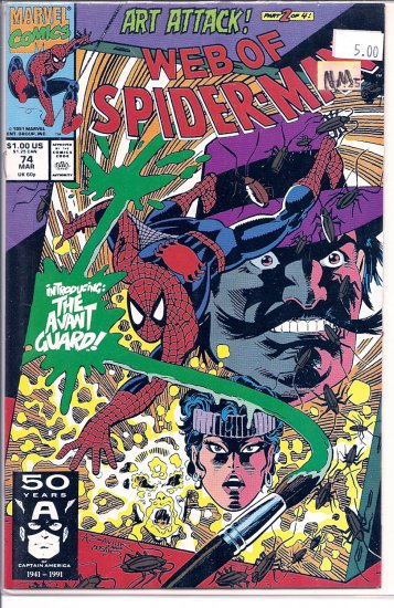 Web Of Spider-Man # 74, 9.2 NM -