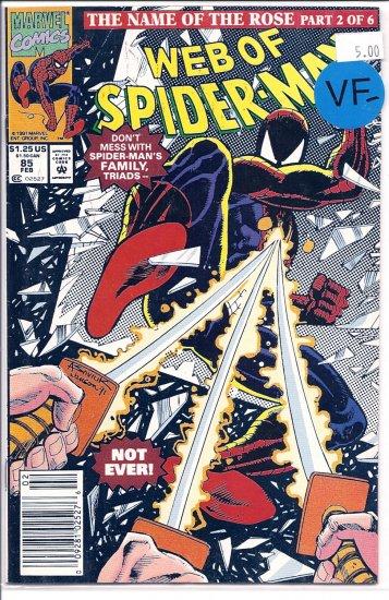 Web Of Spider-Man # 85, 7.5 VF -