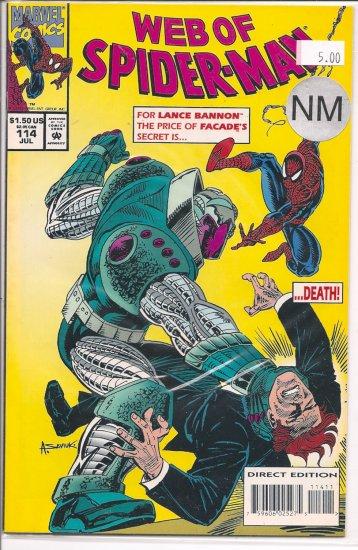 Web Of Spider-Man # 114, 9.4 NM