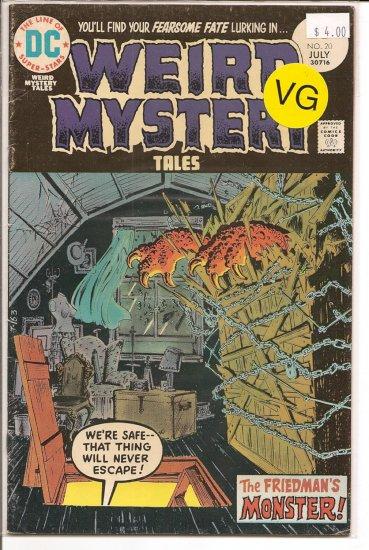 Weird Mystery Tales # 20, 4.0 VG