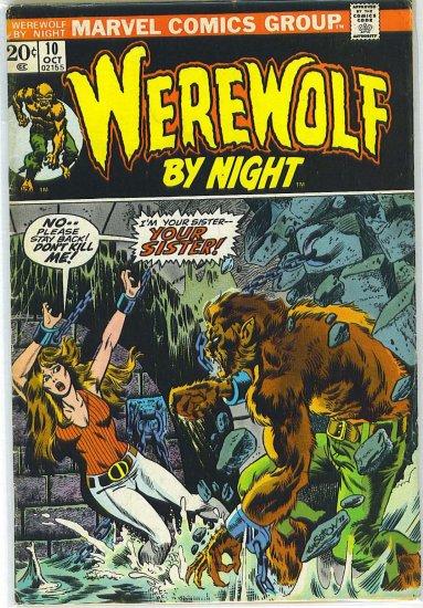 Werewolf By Night # 10, 4.0 VG