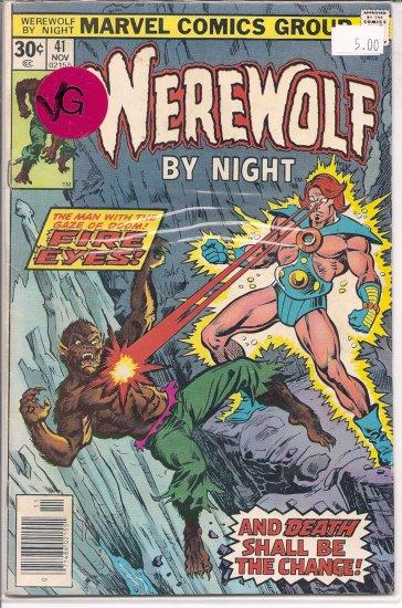 Werewolf by Night # 41, 4.0 VG