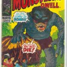 WHERE MONSTERS DWELL # 9, 4.5 VG +