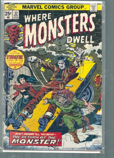 WHERE MONSTERS DWELL # 32, 3.0 GD/VG