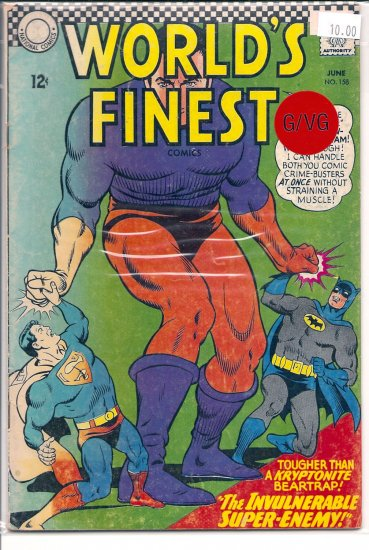 World's Finest Comics # 158, 3.0 GD/VG