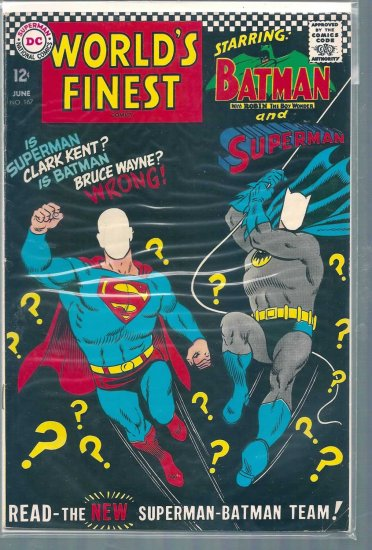 World's Finest Comics # 167, 5.0 VG/FN