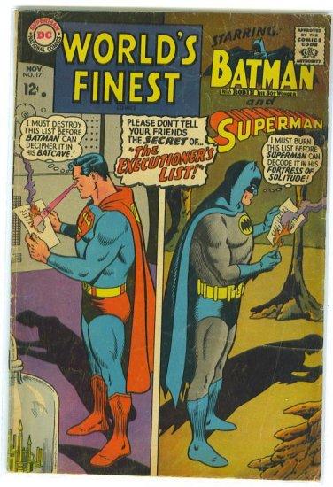 World's Finest Comics # 171, 2.5 GD +