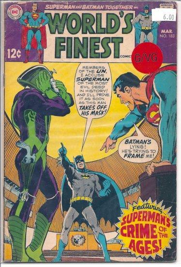 World's Finest Comics # 183, 3.0 GD/VG