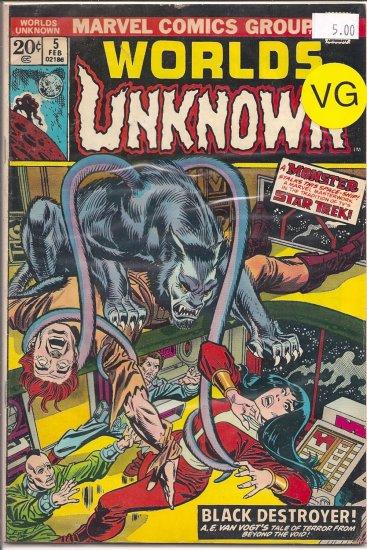 Worlds Unknown # 5, 4.0 VG