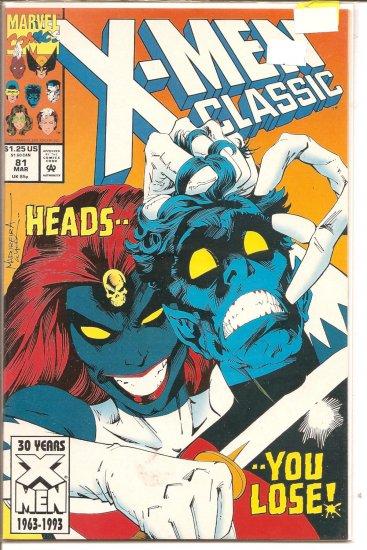 X-Men Classic # 81, 9.2 NM -