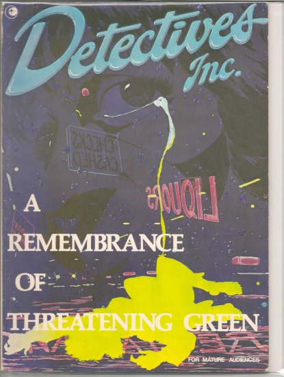 DETECTIVES INC. REMEMBRANCE OF THREATENING GREEN # 1, 4.5 VG +