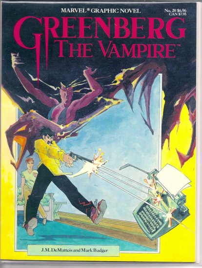 GREENBURG THE VAMPIRE # 20, 7.5 VF -