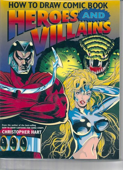 HOW TO DRAW COMIC BOOK HEROES AND VILLIANS # 1, 7.5 VF -