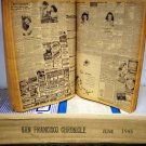 SAN FRANCISCO CHRONICLE BOUND VOLUME JUNE 1945, 3.0 GD/VG