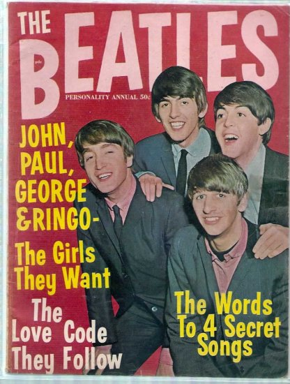 BEATLES PERSONALITY ANNUAL # 1, 4.0 VG