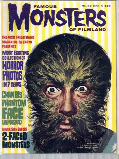 FAMOUS MONSTERS OF FILMLAND # 28, 6.5 FN +