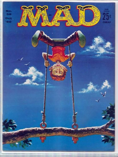 MAD # 58, 4.5 VG +