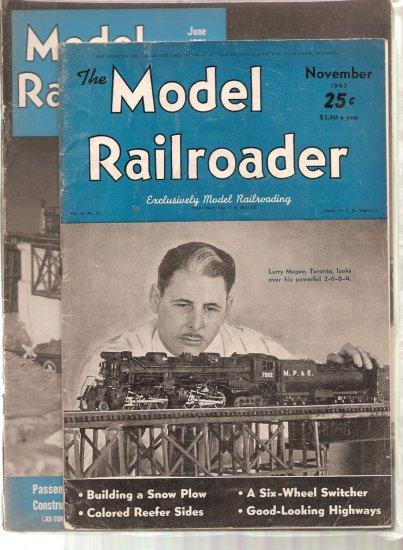 MODEL RAILROADER MAGAZINE LOT OF 7 # 1, 3.0 GD/VG