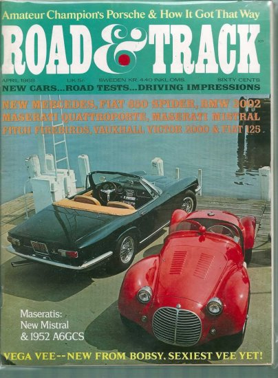 ROAD AND TRACK 1968 LOT # 1, 4.5 VG +