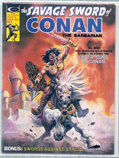 SAVAGE SWORD OF CONAN THE BARBARIAN # 8, 7.5 VF -