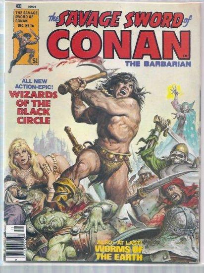 SAVAGE SWORD OF CONAN THE BARBARIAN # 16, 6.0 FN