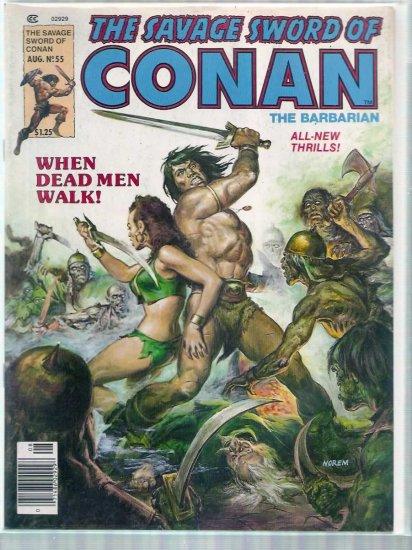 SAVAGE SWORD OF CONAN THE BARBARIAN # 55, 6.0 FN