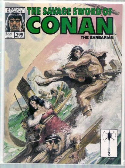 SAVAGE SWORD OF CONAN THE BARBARIAN # 168, 6.0 FN