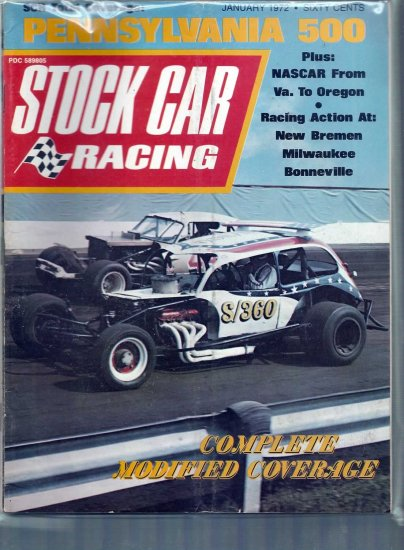 STOCK CAR RACING 1972 LOT # 1, 4.5 VG +