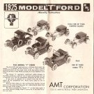 Inst Sheet 1925 Model T Ford