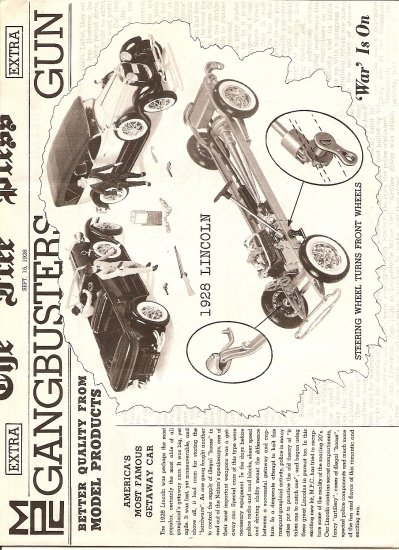 Inst Sheet 1928 Lincoln Gangbusters