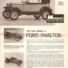 Inst Sheet 1930 Model A Ford Phaeton
