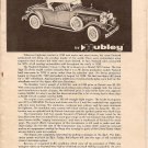 Inst Sheet 1930 Packard Roadster