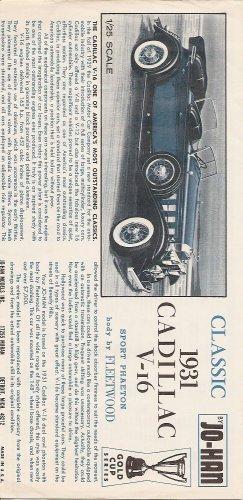 Inst Sheet 1931 Cadillac V 16 Sport Phaeton