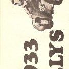 Inst Sheet 1933 Willys