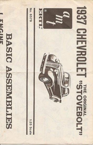 Inst Sheet 1937 Chev Stovebolt
