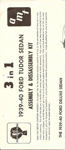 Inst Sheet 1939-40 Ford Tudor Sedan 3 in 1