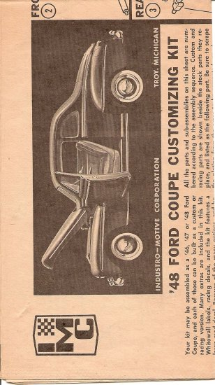Inst Sheet 1948 Ford Coupe