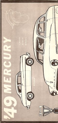 Inst Sheet 1949 Mercury 3 in 1 Trophy Series