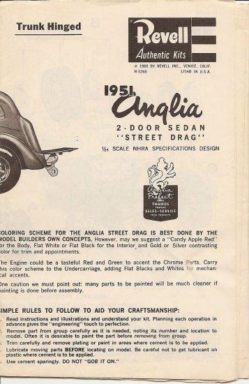 Inst Sheet 1951 Anglia Street Drage