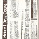 Inst Sheet 1951 Henry J Drag Coupe