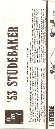 Inst Sheet 1953 Studebaker