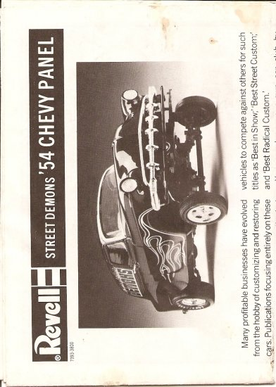 Inst Sheet 1954 Chevy Panel Street Demons